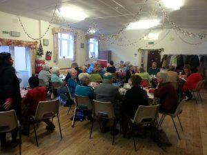 Parishioners at Senior Parishioners Christmas Lunch